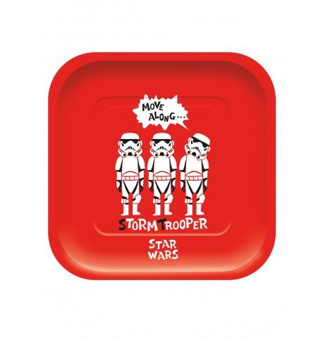 4 Assiettes en carton carré premium Star Wars 24 x 24 cm