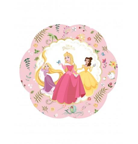 4 Assiettes en carton premium Princesses Disney 26 cm