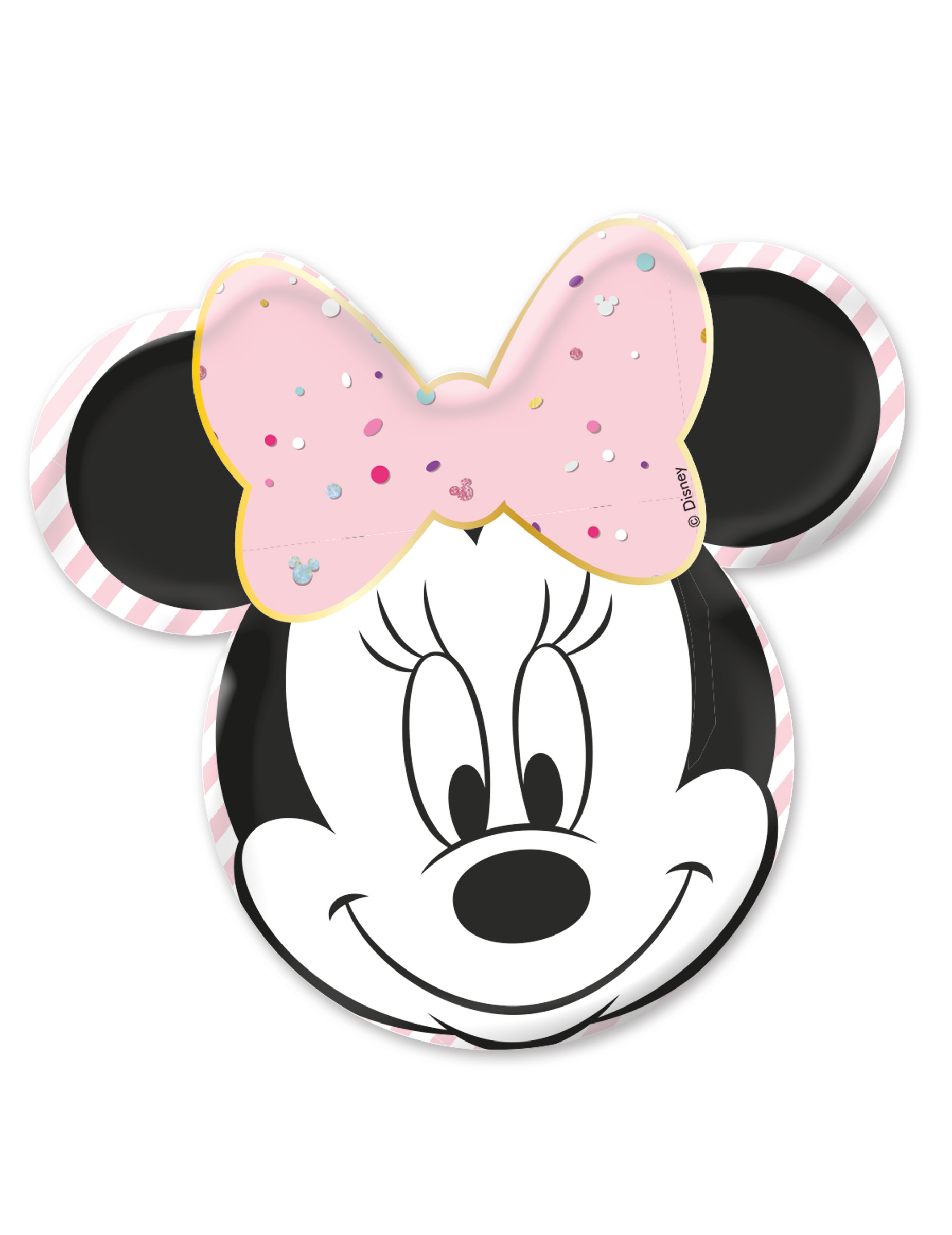 Assiettes premium visage de Minnie par lot de 4