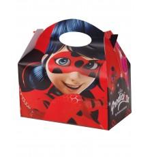 Quatre boîtes rectangulaires imprimées Ladybug