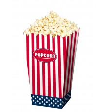 Lot de 4 boîtes à Pop-corn motif drapeau USA