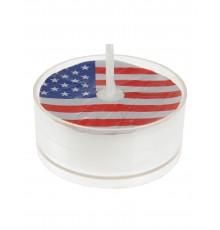 Lot de 4 bougies chauffe-plat à motif drapeau USA