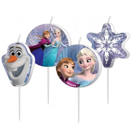4 Bougies d'anniversaire La Reine des neiges 9 cm