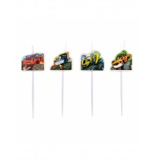Pack de 4 Bougies Blaze et les Monster Machines