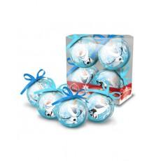 Lot de 4 Boules de Noël en Plastique Olaf et Winnie l'Ourson