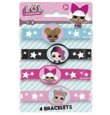 Pack de 4 Bracelets Élastiques LOL Surprise