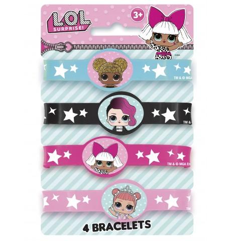 4 Bracelets élastiques LOL Surprise