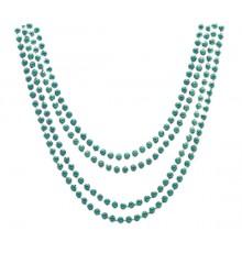Lot de 4 Colliers Coloris Vert Métallisé