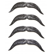 4 Moustaches en carton enfant