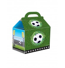 Lot de 4 Petites Boites en Carton à Motif Football