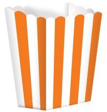 Pack de 5 boîtes pour pop-corn orange