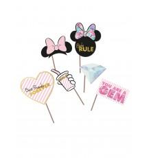 Kit de 6 accessoires photobooth premium Minnie