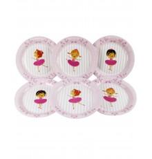 6 Assiettes Ballerines 23 cm