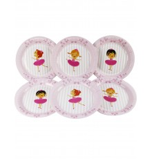 Pack de 6 Assiettes Ballerines