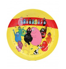 Lot de 6 Assiettes Barbapapa en Carton