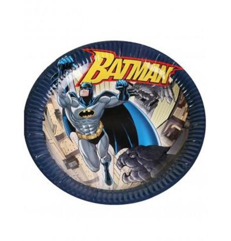 6 Assiettes en carton Batman 23 cm