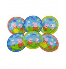 Pack de 6 assiettes à motif Peppa Pig 23 cm