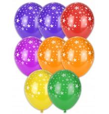 Assortiment de 6 ballons à motif étoile