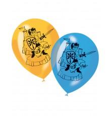 Sachet de 6 Ballons Imprimés Chevalier