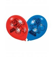 6 Ballons latex Super Mario