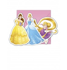 6 Cartes d'invitation + enveloppes Princesses Disney Dreaming