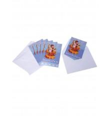 6 Cartes d'invitation avec enveloppes Chevalier 10 x 15 cm