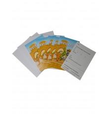 6 Cartons d'invitations avec enveloppes Cowboy et Indien 10 x 15 cm