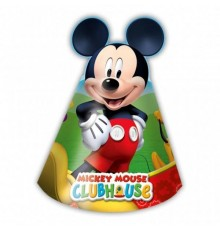 6 chapeaux carton Mickey Mouse