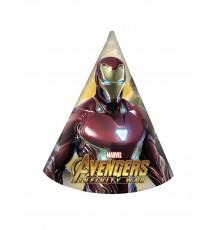 Paquet de 6 chapeaux de fête Avengers Infinity War