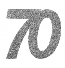 6 Confettis anniversaire 70 ans