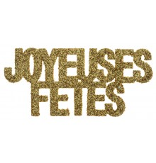 6 Confettis Joyeuses fêtes or