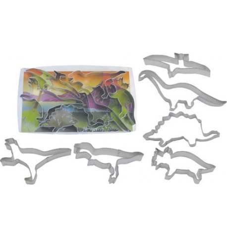 6 Emporte-pièces anniversaire Dinosaures
