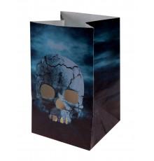 6 Lanternes en papier Nuit d'Horreur Halloween 6 x 10 cm