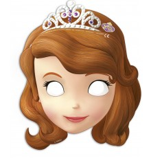 6 Masques en carton Princesse Sofia