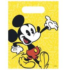 6 Sacs à cadeaux Mickey rétro 16.5 x 23 cm
