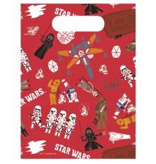 6 Sacs à cadeaux Star Wars Forces