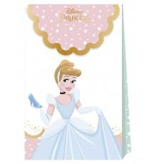 6 sacs cadeaux en carton premium Princesses Disney 21 X 13 cm