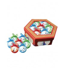 Lot de 7 boules de Noël à l'effigie d'Olaf
