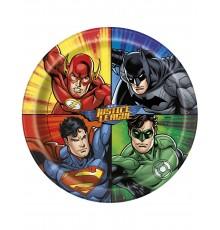 8 Assiettes en carton Justice League  23 cm