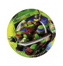 8 Assiettes en carton Les Tortues Ninja 23 cm