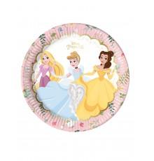 8 Assiettes en carton premium Princesses Disney 23 cm