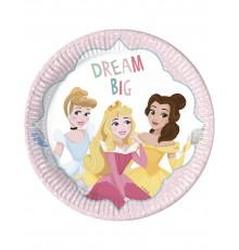 8 Assiettes en carton Princesses Disney 23 cm