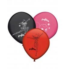 8 Ballons en latex Ladybug