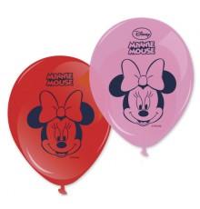 8 Ballons Imprimés Minnie  28 cm