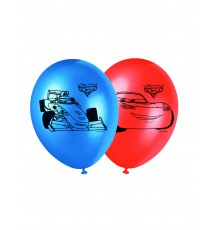 8 Ballons latex Cars