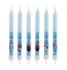 Lot de 8 bougies imprimées La Reine des Neiges