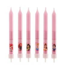 8 Bougies anniversaire Princesses Disney