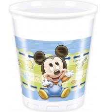 8 gobelets imprimés bébé Minnie et Mickey