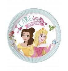 8 Petites assiettes en carton Disney Princesses 20 cm