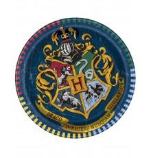 8 Petites assiettes en carton Harry Potter  18 cm